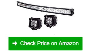 "TURBO-SII-50""-LED-Light-Bar-+-2-LED-Fog-Light-Pods"