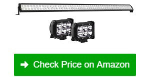 "YITAMOTOR 52"" 300W Combo 2 Spot LED Light Bars"