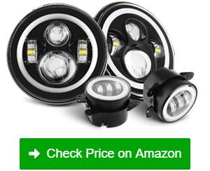 SUNPIE LED Halo with Turn Signal Headlights